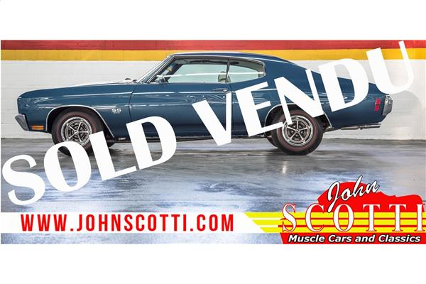 Chevrolet Chevelle SS 396 4-Speed A/C Frame Off Rotisserie 1970